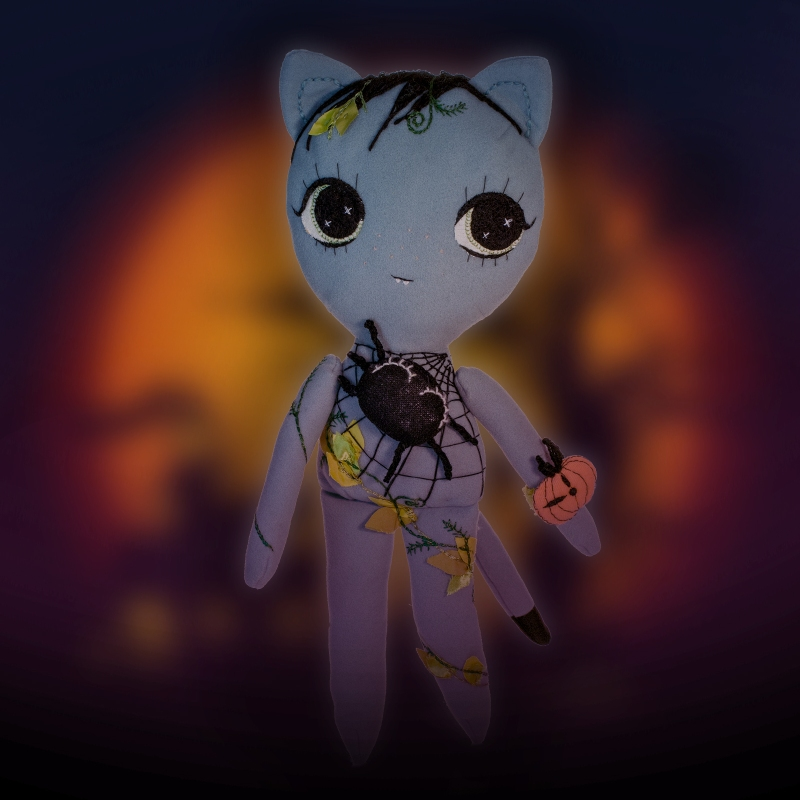 Dollcloud Halloween Giveaway Kitty Doll