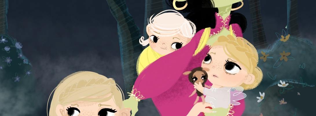 Making Picture Book work in progress illustration The Goldspinners (Pildiraamatu joonistamine Eesti rahva ennemuistsetest juttudest - Kullaketrajad)