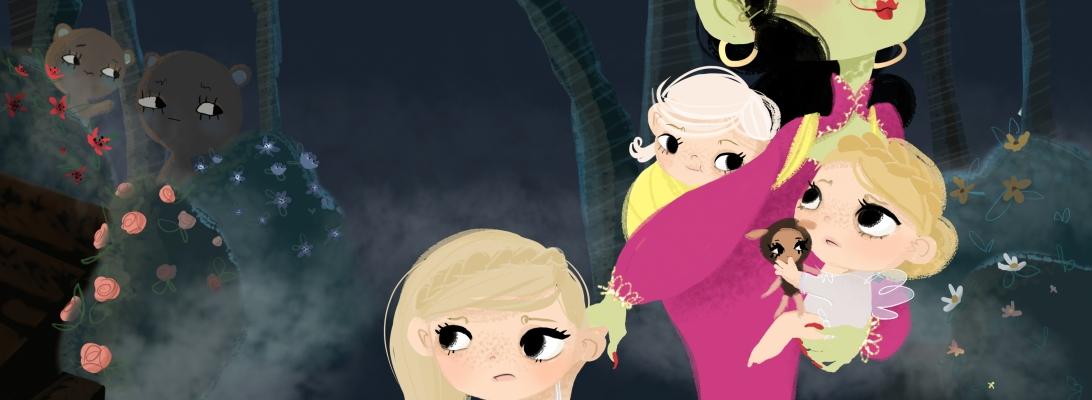 Making Picture Book work in progress illustration The Goldspinners (Lasteraamatu illustreerimine Eesti rahva ennemuistsetest juttudest - Kullaketrajad)