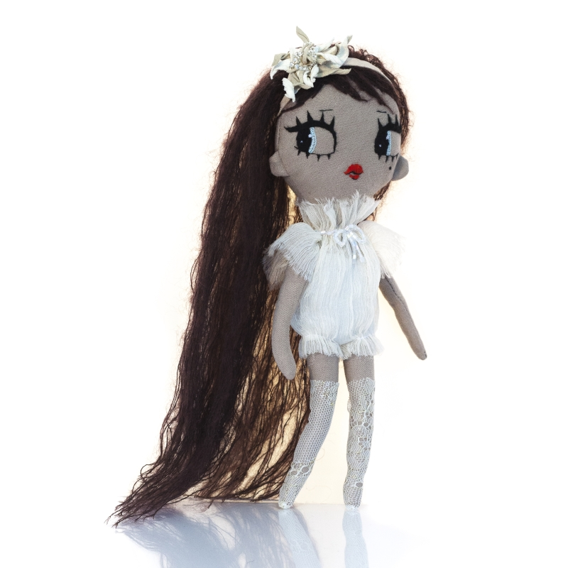 Dollcloud AIKO doll in silk ruffle dress