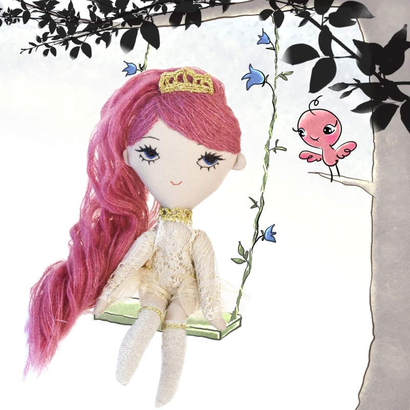 Bonbon handmade soft fabric doll illustration by Dollcloud