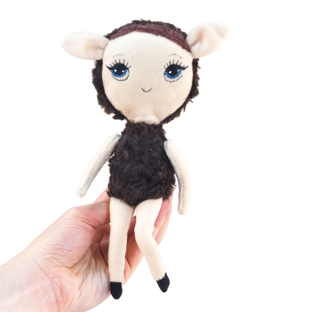 Dollcloud-Brown-Lamb-small-soft-doll-IMG_0828