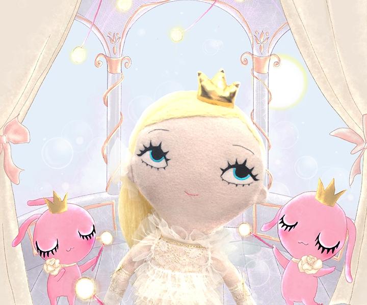 Dollcloud FAIRYTALE buttercup doll and fairies JPG