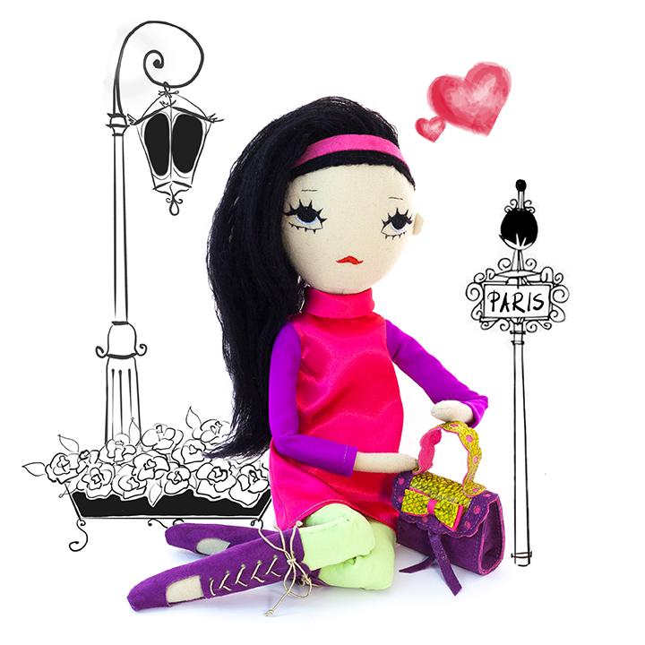 Dollcloud Paris in the 60s pink doll JPG blog