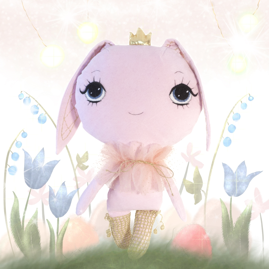 Dollcloud 2017 spring bunny giveaway doll illustration