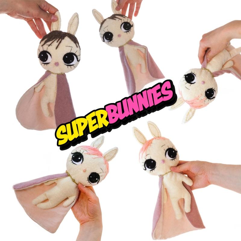 Dollcloud super soft cotton baby comfort blankets super bunnies
