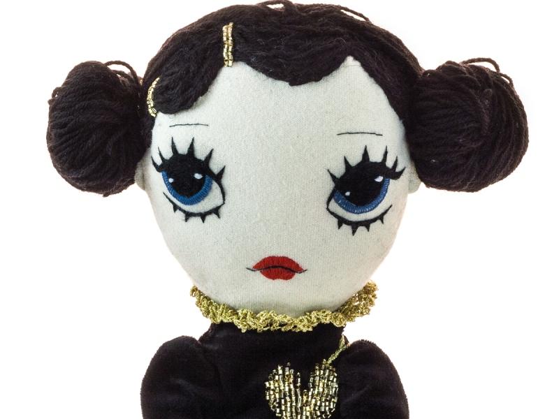 Dollcloud Valentines giveaway doll closeup portrait