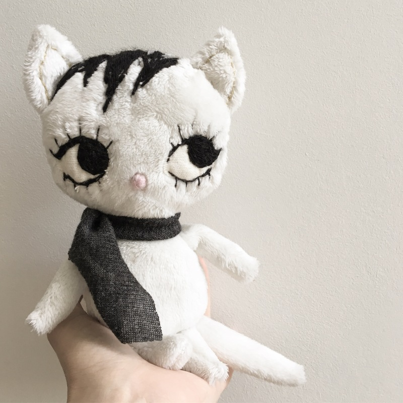 Dollcloud White Cute Baby Kitty doll