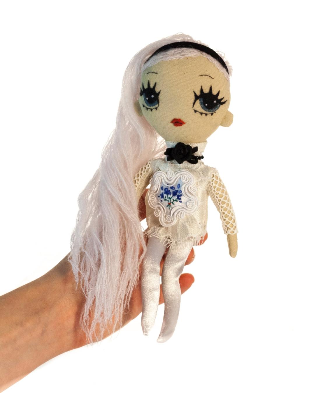 Dollcloud Lilly handmade fabric fashion doll