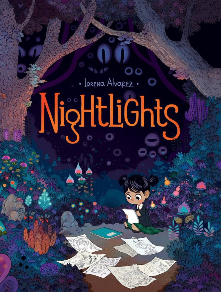Nightlights Book Cover Illustrated by Lorena Alvarez