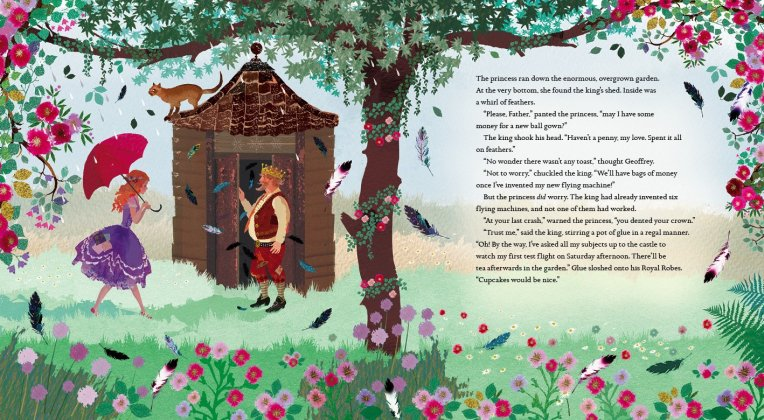 The Princess Who Had No Fortune, written by Ursula Jones, illustrated by Sarah Gibbs