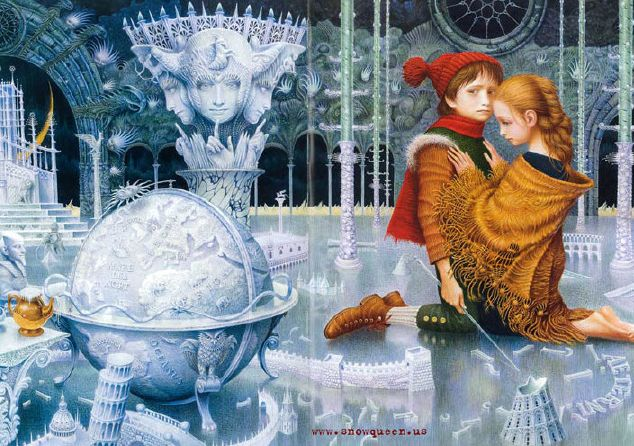 The Snow Queen, written by Hans Christian Andersen, illustrated by Vladyslav Yerko