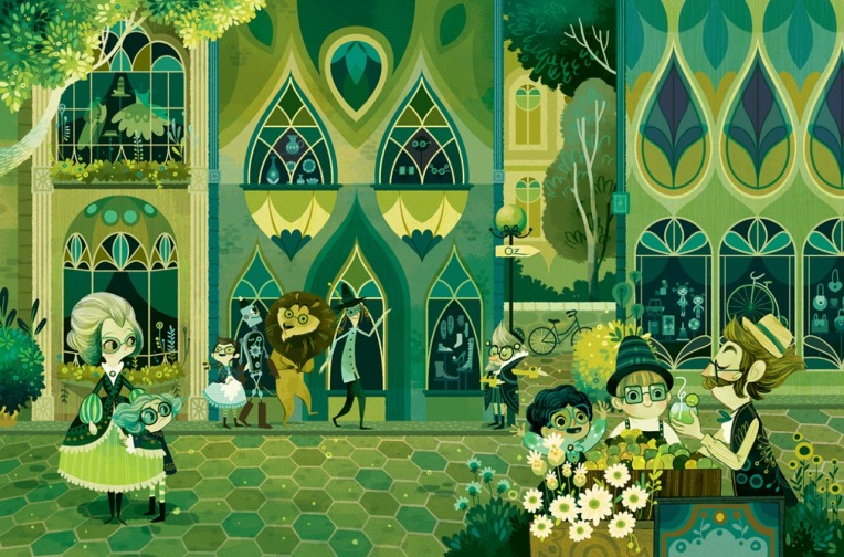 The Wonderful Wizard of Oz, written by L. Frank Baum, illustrated by Lorena Alvarez