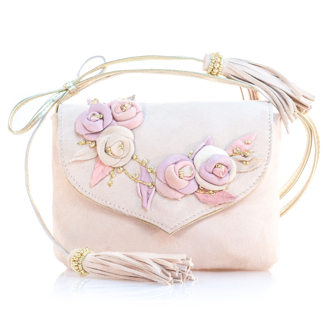 VIBYS pink and gold leather toddler bag
