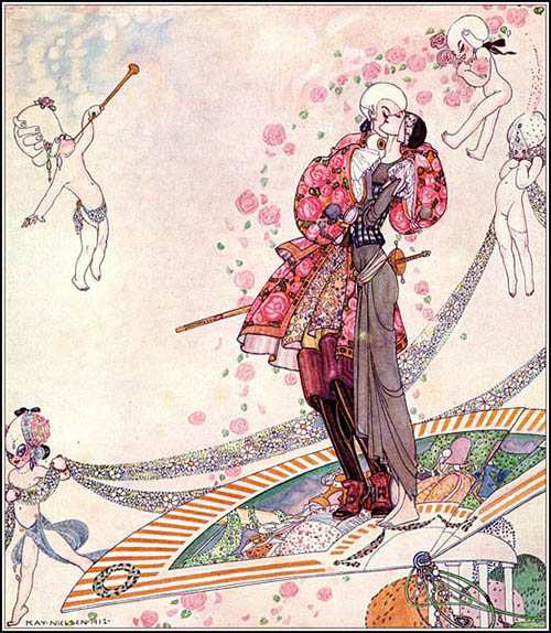 Kay Nielsen illustration In Powder and Crinoline