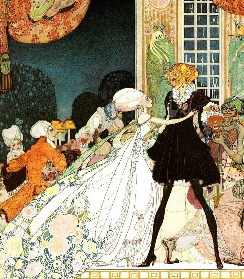 The Twelve Dancing Princesses from In Powder & Crinoline, written by Sir Arthur Quiller-Couch, illustrated by Kay Nielsen