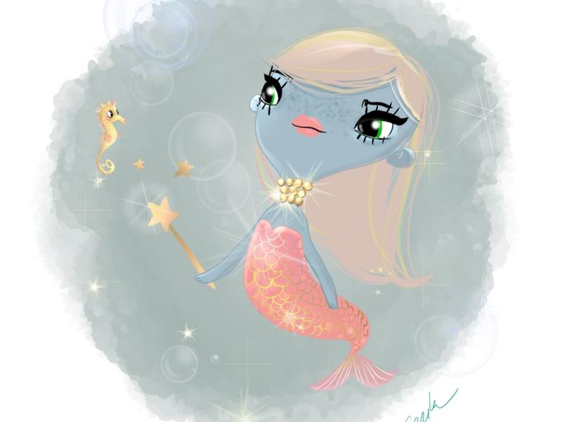 Dollcloud-2018-Blue-Mermaid-doll-illustration
