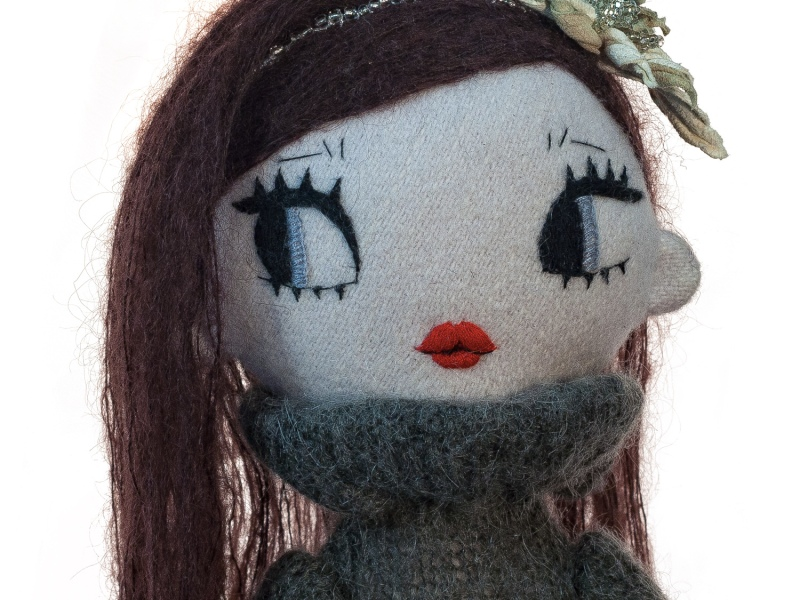 Dollcloud Marinette handmade fashion doll with leather accessories
